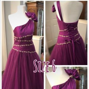 Majestic Orchid Ball Gown